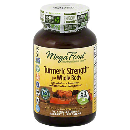 Mega Food Turmeric Extra Strength,60 CAP