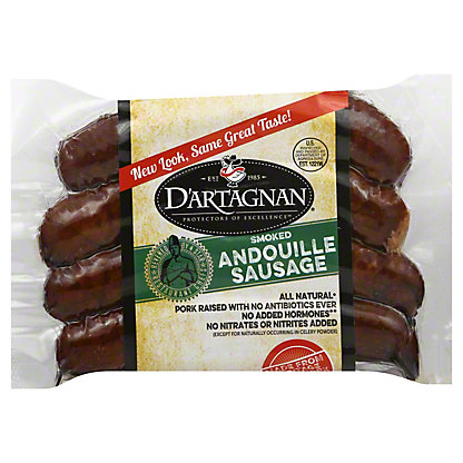 DArtagnan All Natural Andouille Pork Sausage, 12.00 oz