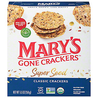 Mary's Gone Crackers Gluten Free Super Seed Crackers, 5.5 oz