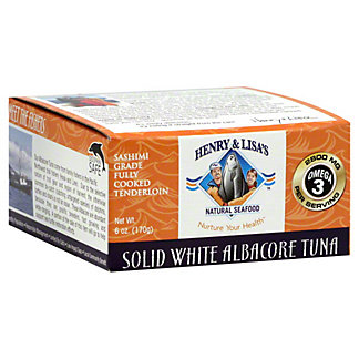Henry & Lisas Sashimi Albacore White Tuna, 5OZ