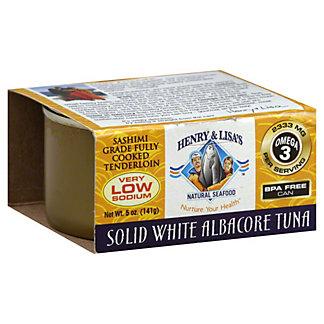 Henry & Lisa's Low Sodium Sashimi Albacore White Tuna, 5OZ