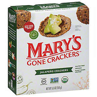 Mary's Gone Crackers Hot Spicy Jalapeno Crackers Gluten Free, 5.5 OZ