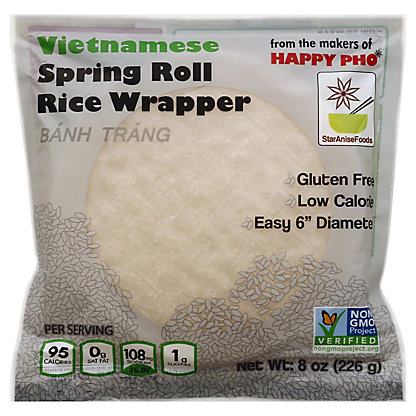 Star Anise Foods Whole Grain Spring Roll Wrappers, 8 oz