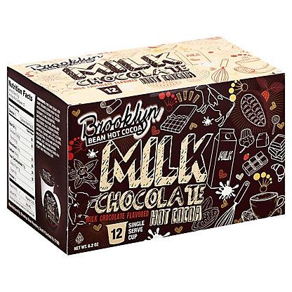 Brooklyn Bean Roastery Milk Chocolate Hot Cocoa Single Serve Cups, 12 ct