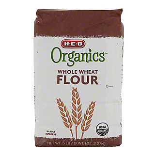 H-E-B Organics Whole Wheat Flour,5 LB