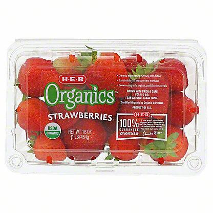 H-E-B Organics Strawberries, 1 lb
