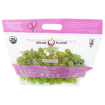 Fresh Organic Cotton Candy Grapes, lb