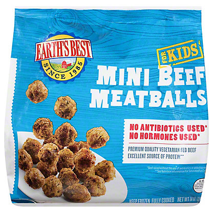 Earths Best Kidz Baked Mini Beef Meatballs,14OZ