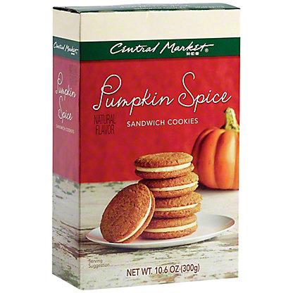 Central Market Pumpkin Spice Sandwich Cookies,10.6 OZ