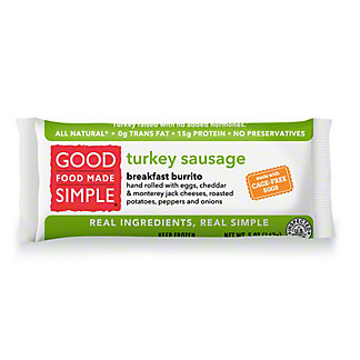 Good Food Made Simple Good Food Made Simple Egg, Cheese & Turkey Sausage Breakfast Burrito,5.00 oz