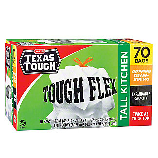 H-E-B Texas Tough Flex Trash Bag,60 CT