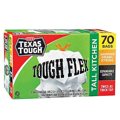 H-E-B Texas Tough Flex Trash Bag,60 CT