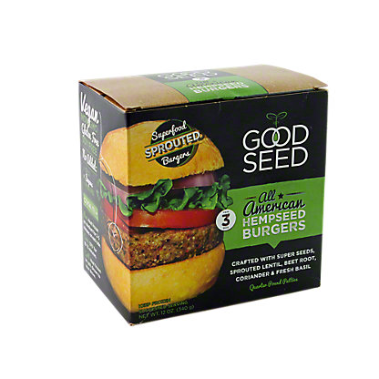 Good Seed Original Hempseed Burgers,12OZ