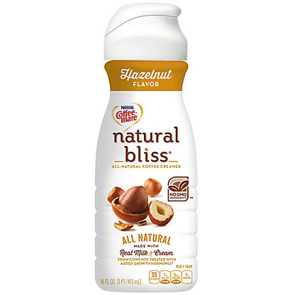 Nestle Coffee-Mate Natural Bliss Hazelnut Coffee Creamer, 16 oz