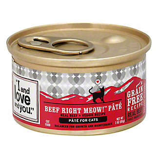 I and Love and You Wholly Cow Pate Cat Food,3OZ