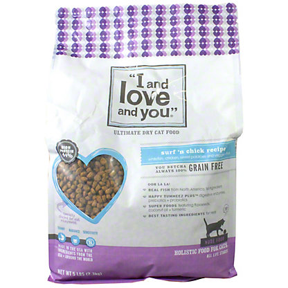 I and Love and You Surf N Chicken Cat Food,5LB