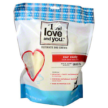 I and love and you Ear Candy Dog Chew, 5 ct