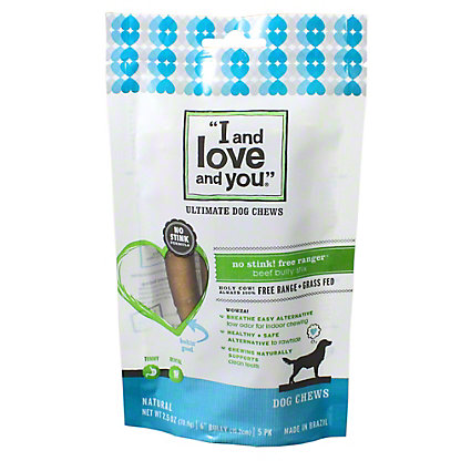 I and Love and You No Stink Free Range Bully Stick Dog Chew, 2.5OZ