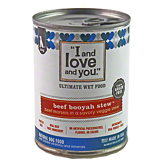 I and Love and You Beef Booyah Stew Dog Food,13OZ