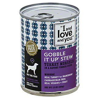 I And Love And You Gobble It Up Stew Dog Food, 13.00 oz