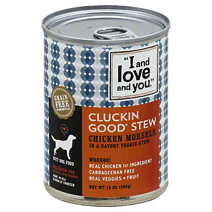 I and Love and You Cluckin Good Stew Dog Food,13OZ