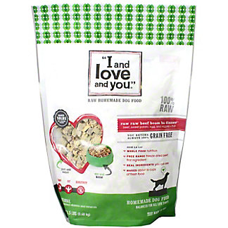 I and Love and You Nude In the Raw Beef Dog Food, 1.5 lb