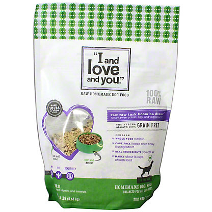 I and Love and You Nude In the Raw Turkey Dog Food, 1.5 lb