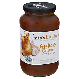 Mias Kitchen Garlic & Onion Pasta Sauce,25.5OZ