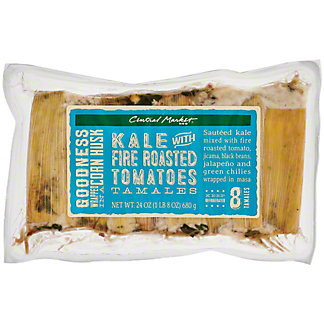 Central Market Kale with Fire Roasted Tomatoes Tamales, 8 ct