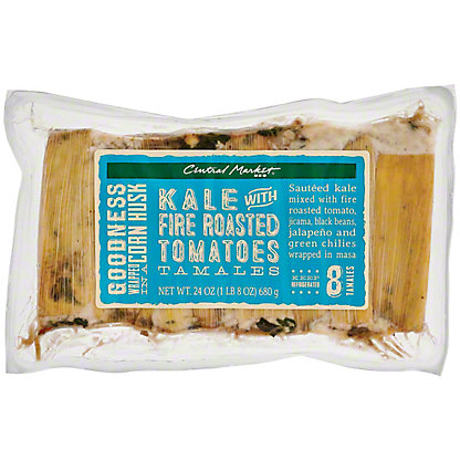 Central Market Kale with Fire Roasted Tomatoes Tamales, 24 oz