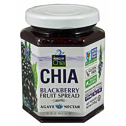 World Of Chia Blackberry Agave Chia Spread,10.90 oz