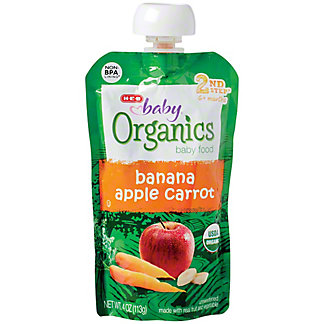 H-E-B Baby Organics Banana Apple Carrot,4 OZ