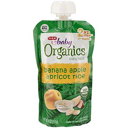 H-E-B Baby Organics Banana Apple Apricot Rice,4.00 oz