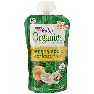 H-E-B Baby Organics Banana Apple Apricot Rice,4.00 oz