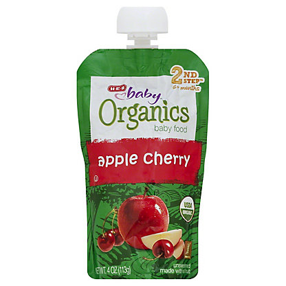 H-E-B Baby Organics Apple Cherry,4 oz