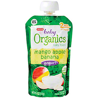 H-E-B Baby Organics Banana Apple Mango Yogurt,4.00 oz