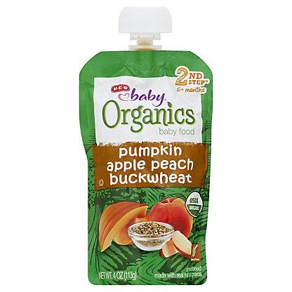 H-E-B Baby Organics Pumpkin Apple Peach Buckwheat,4.00 oz