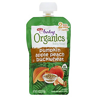 H-E-B Baby Organics Pumpkin Apple Peach Buckwheat,4.00 oz