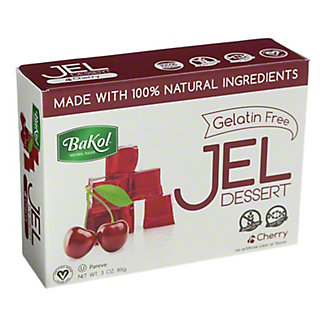 Bakol Natural Cherry Jel Dessert,3 OZ
