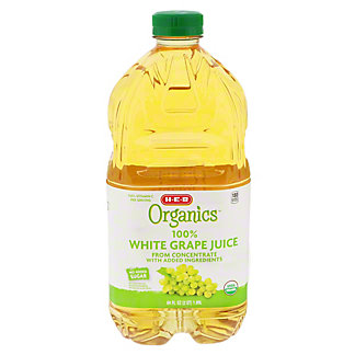 H-E-B 100% Organics White Grape Juice,64 oz