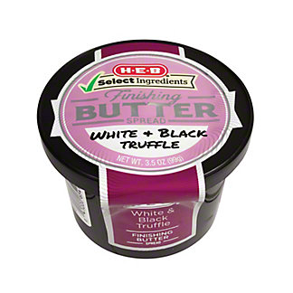 H-E-B Select Ingredients White and Black Truffle Finishing Butter, 3.5 oz