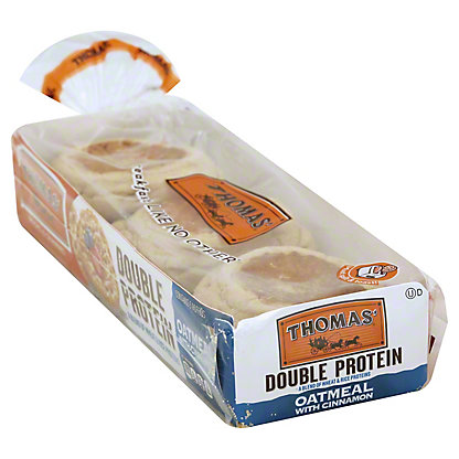 Thomas' Double Protein Oatmeal English Muffins,6 CT