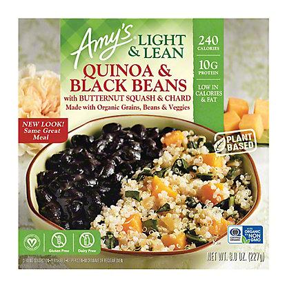 Amy's Light & Lean Quinoa and Black Beans Bowl, 8 oz