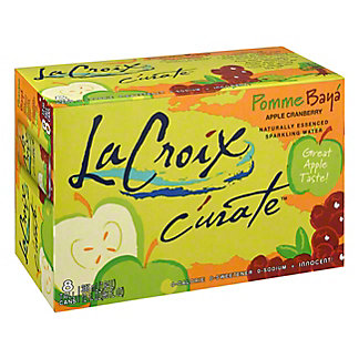 LaCroix Curate Sparkling Apple Berry Water 12 oz Cans, 8 pk