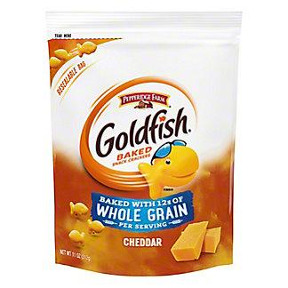 Pepperidge Farm Goldfish Whole Grain Cheddar Baked Snack Crackers Bag, 11 oz