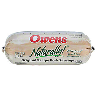 Owens Naturally Original Recipe Pork Sausage,16 OZ