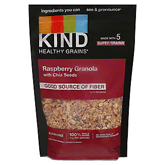 Kind Healthy Grains Raspberry Clusters With Chia Seeds Cereal, 11 oz