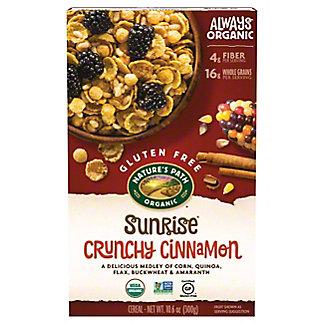 Nature's Path Gluten Free Organic Sunrise Crunchy Cinnamon Cereal, 10.6 oz