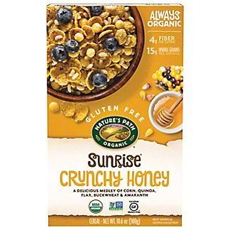Nature's Path Gluten Free Organic Sunrise Crunchy Honey Cereal, 10.6 oz