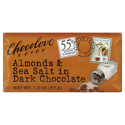 Chocolove Mini Bar Dark Chocolate Almond and Sea Salt,1.3 OZ